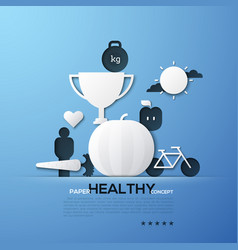 Paper concept of healthy lifestyle nutrition vector