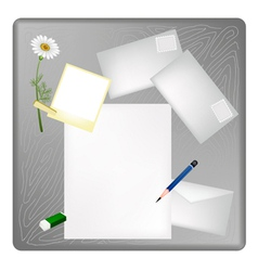 Pencil and Picture Frame on A Blank Page vector image