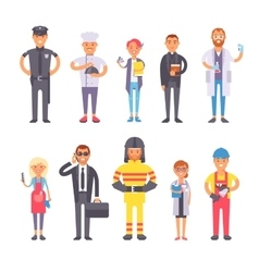 People professions set vector