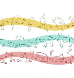 pet pattern vector image vector image