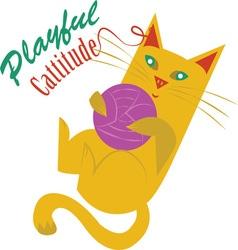 Playful Cattitude vector