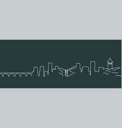 Profile lines minneapolis vector
