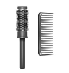 realistic detailed plastic brush set vector image