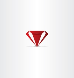 red diamond gem icon vector image