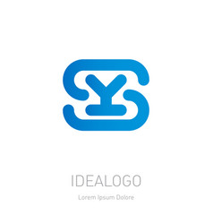 s and y logo ys - design element or icon initial vector image
