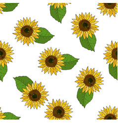seamless background with flowers of vector image