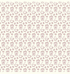 seamless pattern with icons coffee items vector image