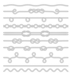 set twisted rope isolated on white vector image
