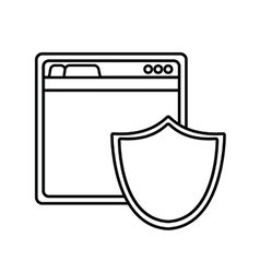 Shield cyber security system design vector