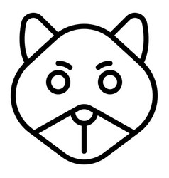 Sick chipmunk icon outline style vector