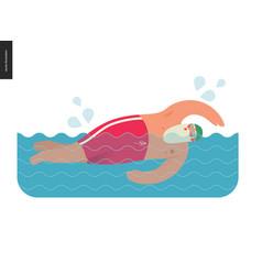 Sporting santa - pool swimming vector