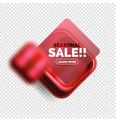 square shape sale button label tag vector image