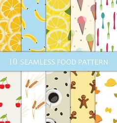 Ten food pattern vector image
