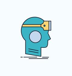 Vr googles headset reality virtual flat icon vector