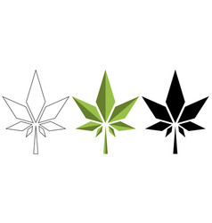 watercolor cannabis leaf medical design vector image
