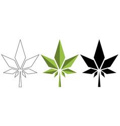 watercolor cannabis leaf medical design vector image