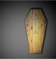 Wooden coffin vector image