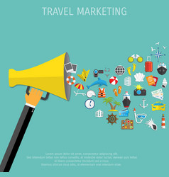 World travel and tourism marketing vector