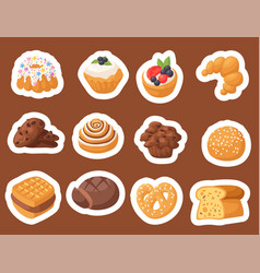 cookie cakes tasty snack delicious vector image vector image