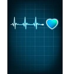 Heart beating monitor EPS 8 vector image vector image