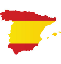 spain flag map vector image