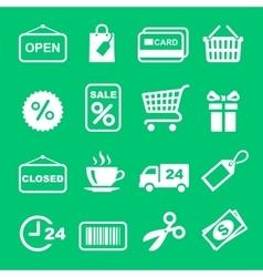 Web icon set Shopping pictogram vector image vector image