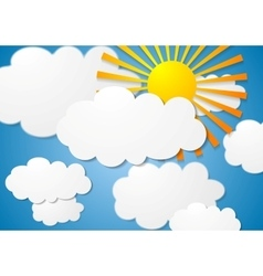 cloudscape with sun vector image vector image