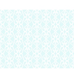White Forged Lacing Seamless pattern on blue vector image