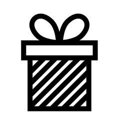 gift box present ribbon linear vector image vector image