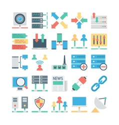 Network and Communication Colored icons 3 vector image vector image