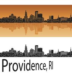 Providence skyline in orange vector