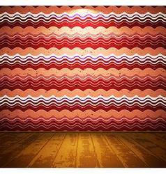 Retro room with wooden floor vector image