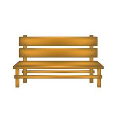 Rural bench in wooden design vector