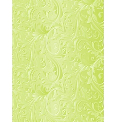 Beautiful green floral background vector image
