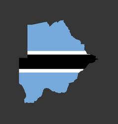 botswana flag and map vector image