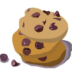 Chocolate cookies vector image vector image