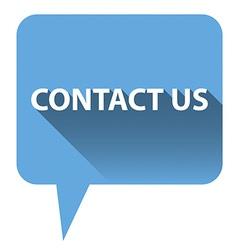 Contact us bubble vector