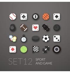 Flat icons set 12 vector image