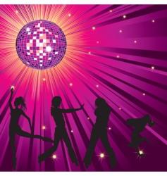 nightclub background vector image vector image