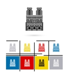 Notre Dame de Paris icon vector image