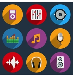 Sound and Music Icons vector image vector image