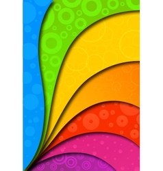 Abstract colorful background for design vector image