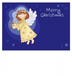 angel with gifts vector image