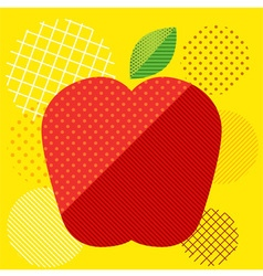 Apple Pop art Screen vector image
