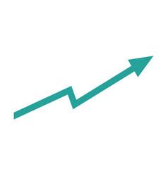 arrow growing upward business financial concept vector image