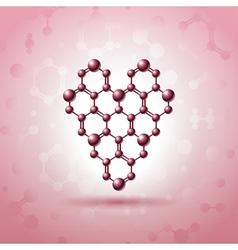 Atom heart vector