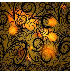 Autumn black lace vector image