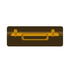 Bag travel suitcase icon vector