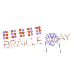 Banne world braille day vector