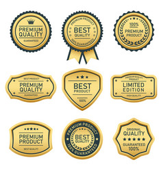 best quality best product badges and labels vector image